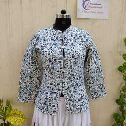 Quilted Jackets in Block Printed Fabric