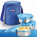 Lunch Box With 3 Metal Containers