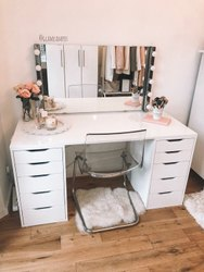 Neptune Enterprises White Wooden Dressing Table, for Home