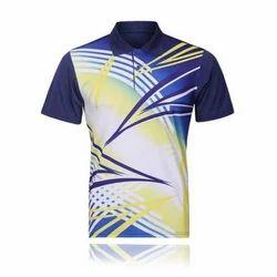 Cotton Polo Neck Men Printed Casual T-Shirt