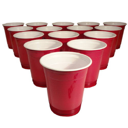Beer Pong Red Plastic Cups 20pc