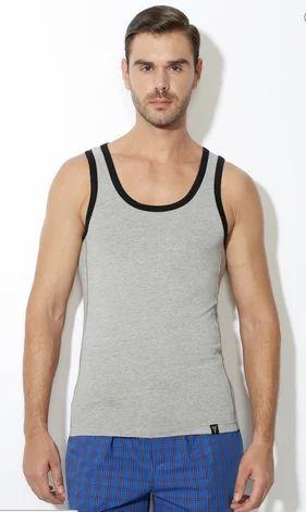 62b8b1454b Track Pants And Joggers for Men - Van Heusen Grey Melange Gym Vest ...
