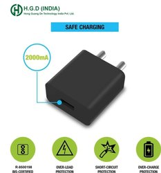 HGD India 5V-2000MA (2 Amp) Single USB Fast Mobile Charger