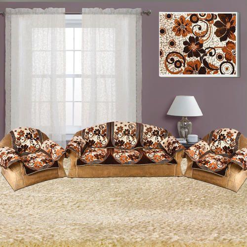Brown Designer Sofa Set Covers 5 Seater