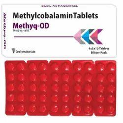 Methylcobalamin I.P. 1500mcg. Methyq-OD Tablets, Packing Size: 4x5x10