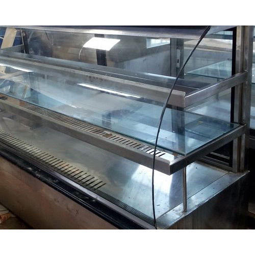 Stainless Steel and Glass Refrigerated Display Counter