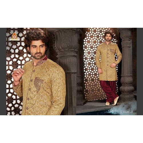 Large And Xl Indo Wertern Designer Heavy Sherwani With Indowestern Patiala