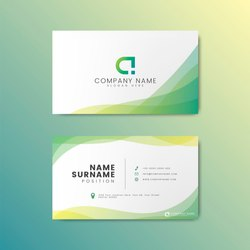 Multicolor Visiting Cards, Size: 3.5 By 2