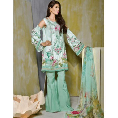 a404ae6797 Linen Printed Embroidered Unstitched Pakistani Lawn Suit, Rs 2800 ...