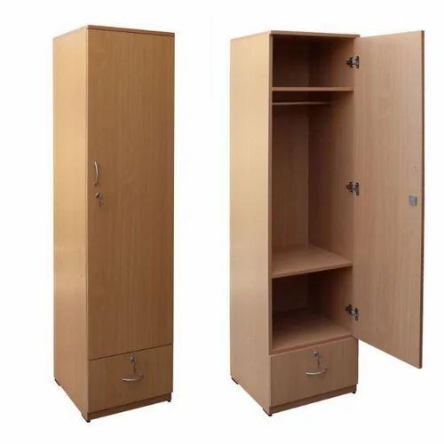 brown single door wooden wardrobe rs 18000 piece lucky. Black Bedroom Furniture Sets. Home Design Ideas