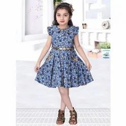 Cotton Girls Party Wear Frocks, Age: 2-6 Year, 22-30