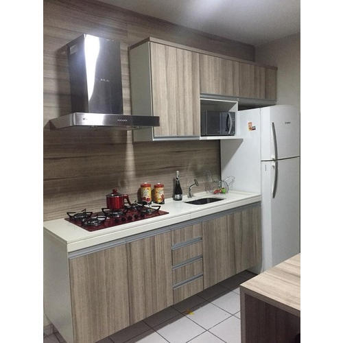 Pvc And Wooden L Shape Semi Modular Kitchen Designing Services Rs 900 Square Feet Id 20389050433