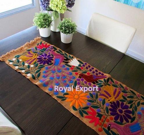Mexican Style Embroidery Table Runner
