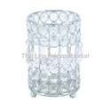 Luxury Class Crystal Bead Votive Candle Holder Nickel Finish