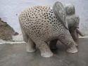 Soapstone Undercut Elephant Cutting Work Elephant