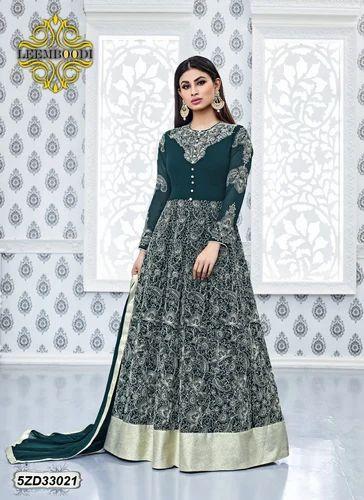3baaa9b069 Georgette Embroidered Designer Anarkali Dress, Rs 1642 /piece | ID ...
