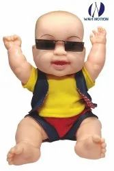 Wah Notion Laughing Baby Boy Toy for Children Multi Color Realistic Look (Blue)