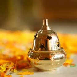 Brass Apple Diya