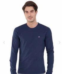 Ink Blue Melange Long Sleeved T Shirt
