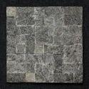 Black Granite Roman Pattern Mosaic Tiles, 10 - 12 Mm