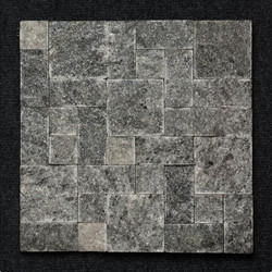 Black Granite Roman Pattern Mosaic Tiles