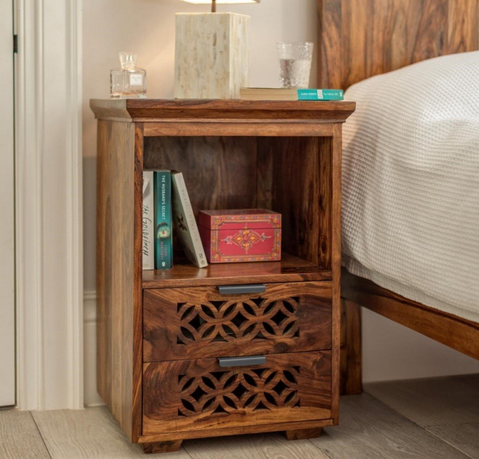 Sheesham Wood Bed Side Cabinet