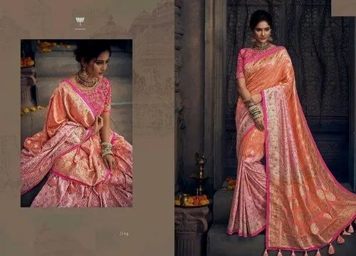 15e4049eb3 Royal Bridal Resham Dhaga Banarasi Silk Zari Saree, Bridal Wear ...