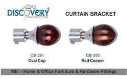 Oval & Red Curtain Bracket