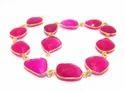 Amethyst Gemstone Bezel Chain