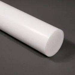 H D P E PLASTIC ROD 80 mm Diameter x 500 mm,1//2 a metre long white COLOR