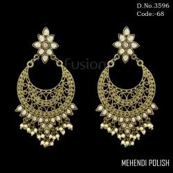 Designer Pearl Antique Earrings