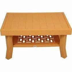 Plastic Brown Supreme Vegas Coffee Table, Size: 470x 900x 600mm