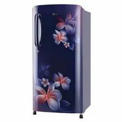 Stainless Steel Electricity LG Single Door Refrigerator, Top Freezer