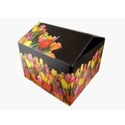 Flower Print Corrugated Box