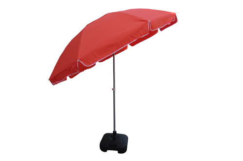 Polyester Plain Garden Umbrella-9' -Tiltable-Orange, Size: 9 Feets