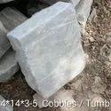 Kandla Grey Sandstone Cobbles with Tumbled Finish