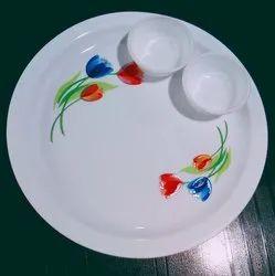 Round Printed Dinner Plate