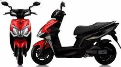 Red And Black Battery Operated Scooter GKon Roadies