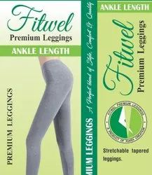 Fitwell Cotton Leggins 4 Way, Packaging Type: Single Piece, Size: Free Size
