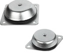 Steel & Rubber Round Pam Mounts