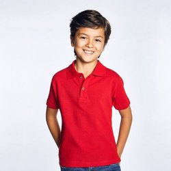 Aesthetic Apparels Polyester Kids Polo T Shirt, Size: 7-12 Years