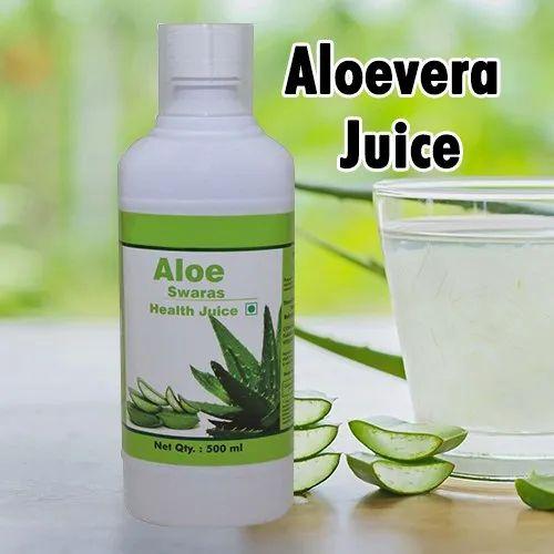 Natural Aloe Vera Juice 500 ml - Healthy Skin & Digestion, Packaging Type: Bottle