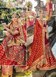 Wedding Wear Heavy Embroidery Work Designer Saree With Wholesale Price