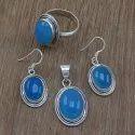 Mystic Gemstone 925 Sterling Silver Jewelry Antique Set