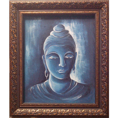 Buddha Canvas Paintings Size 4 X 3 Feet Rs 30000 Piece Water Art Work Id 19299656797