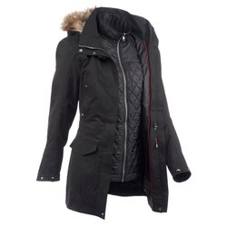 Decathlon Travel 700 9 Pockets Black Women 3-In-1 Jacket
