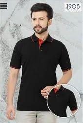 Mafatlal Premium  T-shirt (BLACK RED)