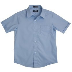 Cotton Plain Half Sleeves School Shirt