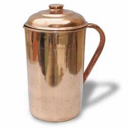 Plain 2000 Ml Copper Jug, For Home, Size: 8.5