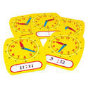 Yellow Student Clock Write And Wipe
